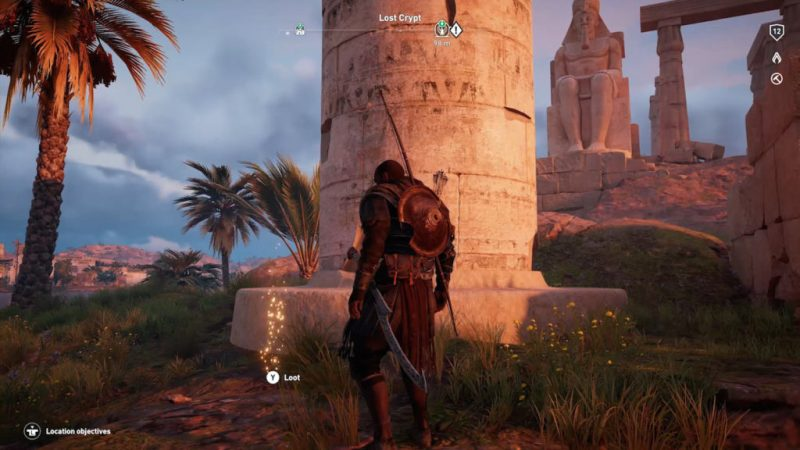 Assassin's Creed Origins Emplacement Des Énigmes Papyrus Le Regard De Pierre solution