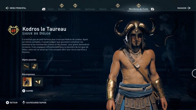 Assassin's Creed Odyssey trouver et tuer les adeptes du culte du Kosmos, ps4, xbox one, pc, ubisoft, jeu vidéo,