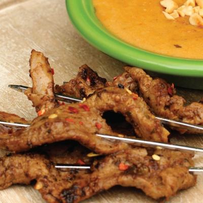 Indonesian Venison with Peanut Sauce