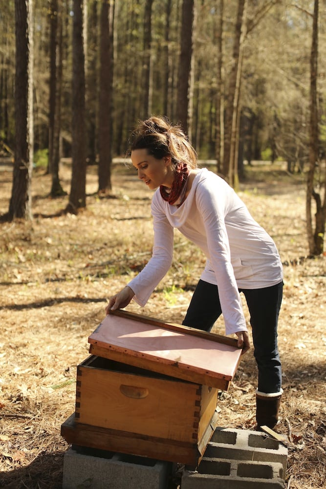 Stacy Putting Beehives Together