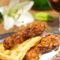 Stacy Harris' Fried Rabbit with Waffles