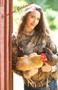 Stacy with Chickens