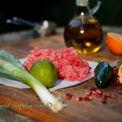 Yummy Tuna Tartare with Pomegranates – No Cooking Necessary!