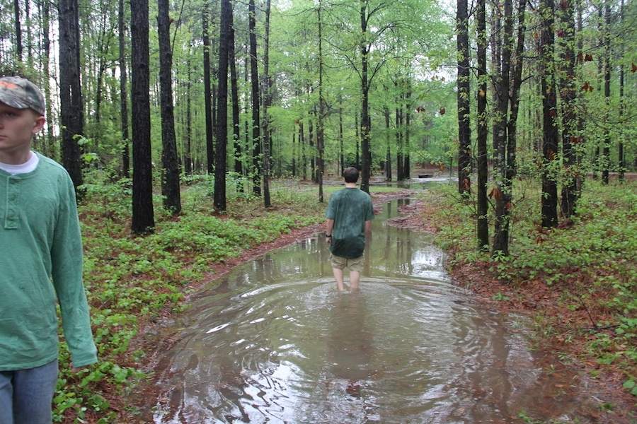 We do have a pond, but I didn't intend it to come up almost to my house. There were people unable to get home from work for days this year (2014) in Alabama from the floods.