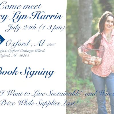 Stacy Lyn Harris Book Signing – Sam's Oxford, Alabama – July 24th
