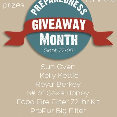 Preparedness Giveaway Month Giveaway