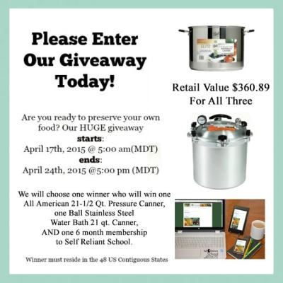Water Bath and Pressure Canner Giveaway