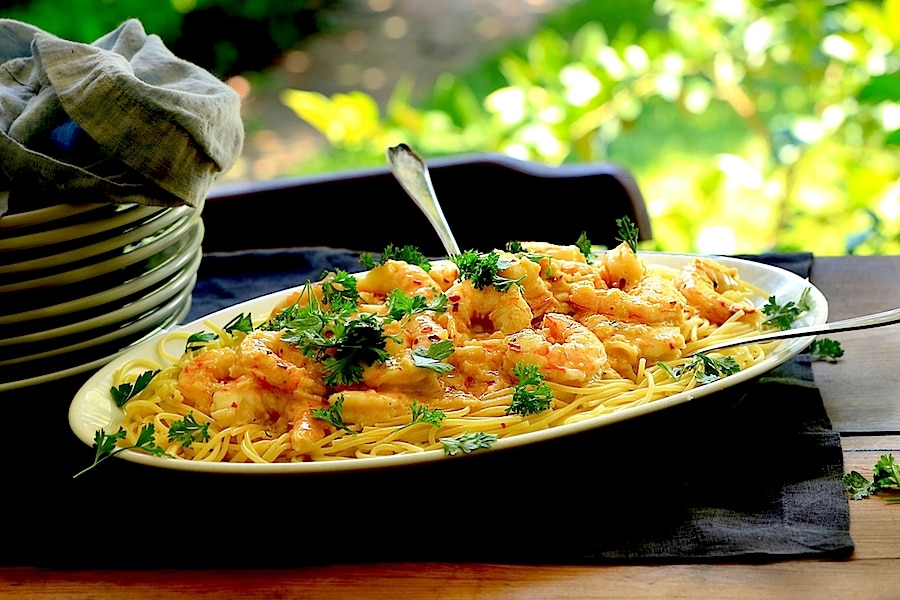 Garlicky Shrimp Scampi is infused with garlic carried by the butter...unbelievable!