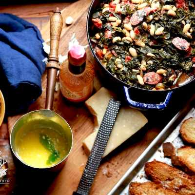 Georgia Collards and Bean Soup