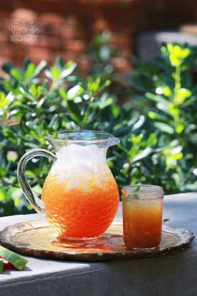 Southern Peach Tea can be made with frozen peaches if you don't have fresh peaches available.