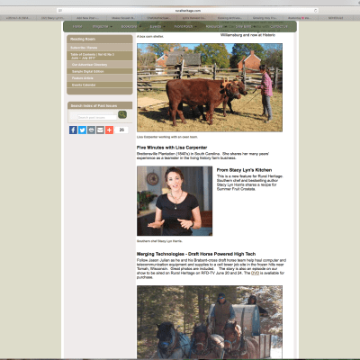 Stacy Lyn Harris: Segments on RFDTV's Rural Heritage TV Show