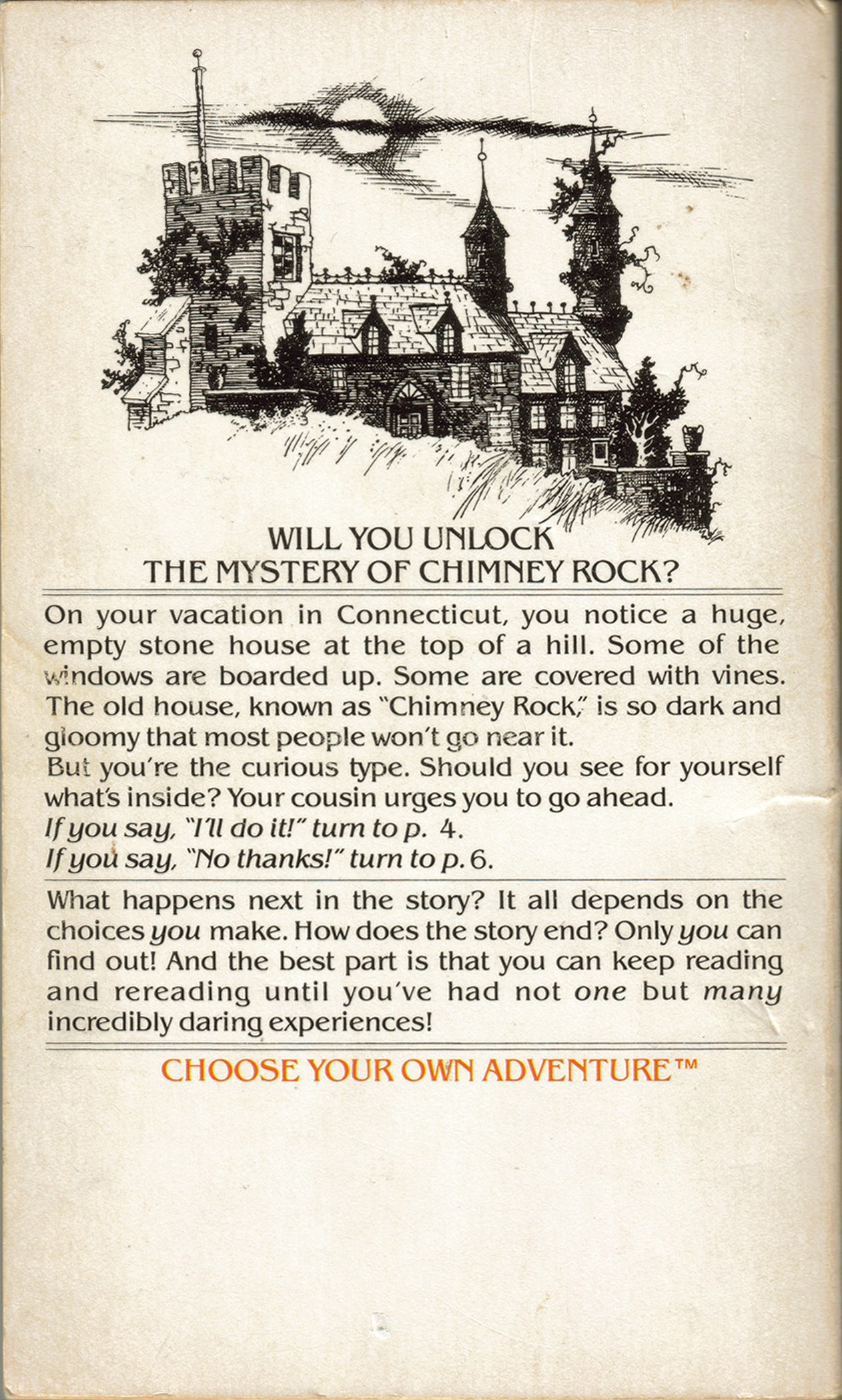 Item The Mystery Of Chimney Rock Demians Gamebook Web