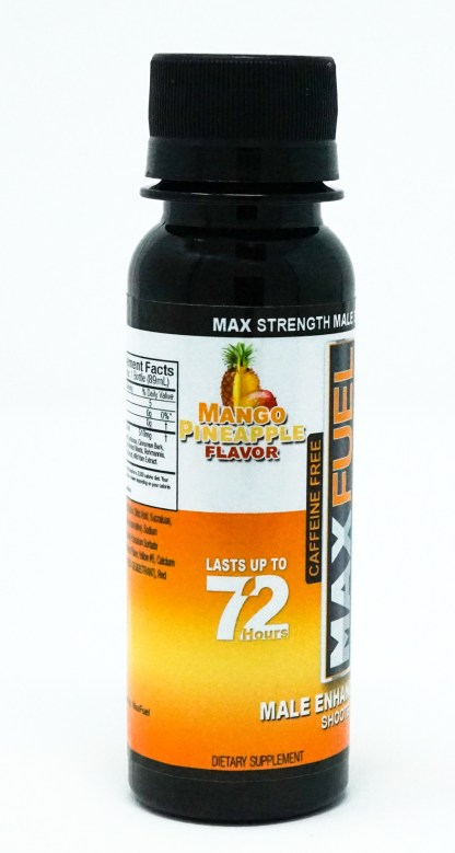 Manfuel shooter bottle in Mango Pineapple flavor