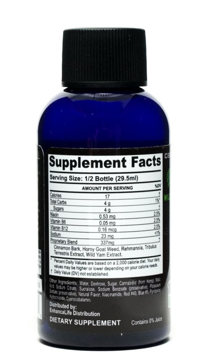 VooDoo Male Sexual Enhancement Bottle Ingredients Label