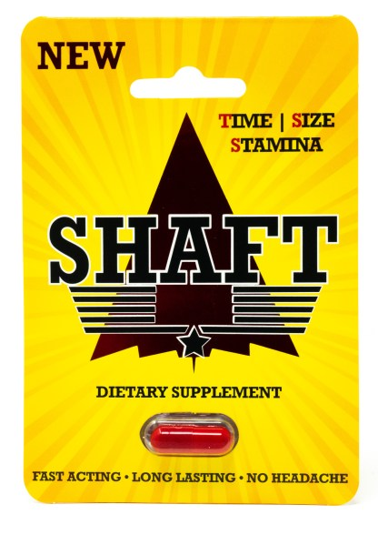 Shaft Male Enhancement Supplement Pill Front