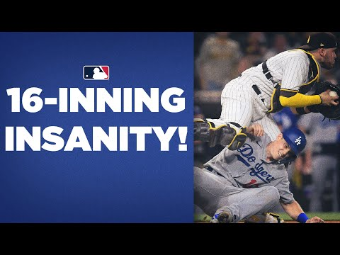 16 INNINGS?!?!? Padres, Dodgers play INSANELY long extra-innings game to add to rivalry!!