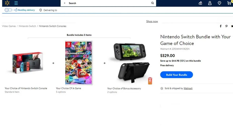 Walmart S Nintendo Switch Build A Bundle Plus Game Deals