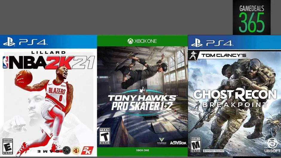 NBA 2K21, Ghost Recon Breakpoint, Tony Hawks Pro Skater 1+2