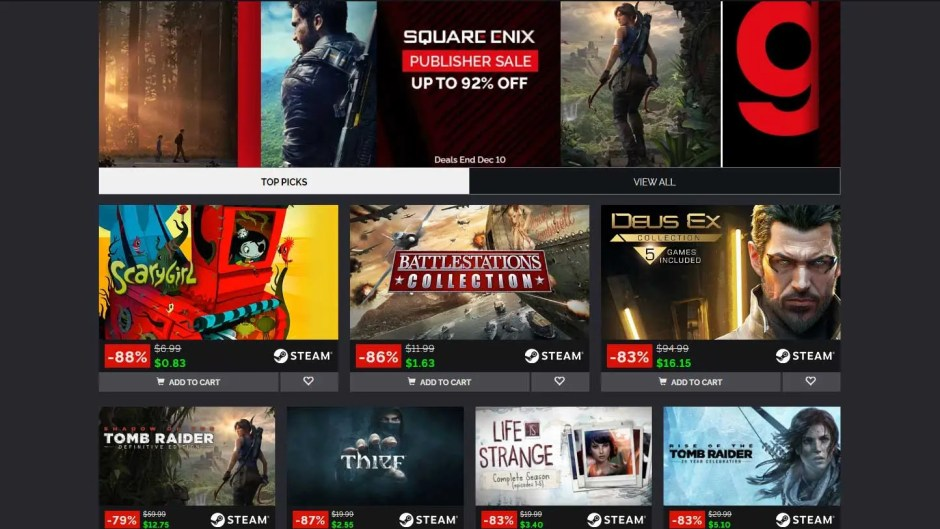 Green Man Gaming Square Enix Publisher Sale