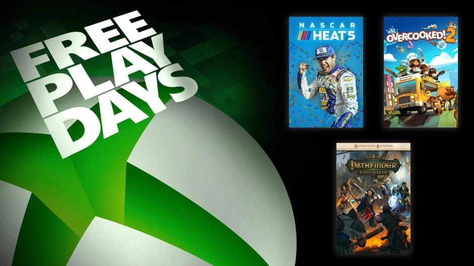 Xbox Free Play Days: NASCAR Heat 5, Overcooked 2, Pathfinder Kingmaker