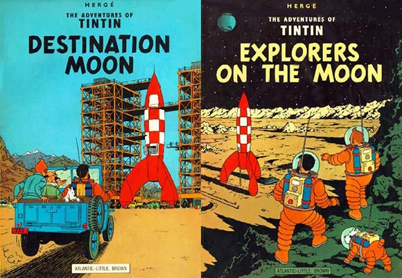 Tintin - Destination Moon and Explorers on the Moon