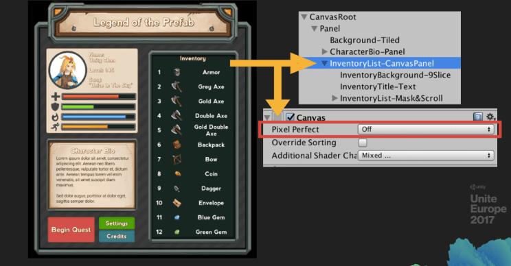 Increase unity performance UI