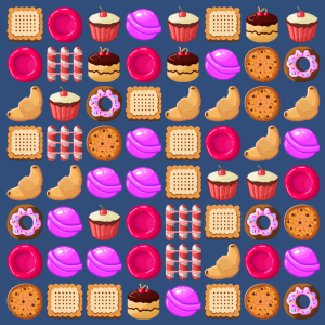 Grid without matches in candy crash clone