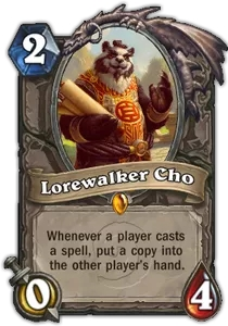 Hearthstone Lorewalker Cho