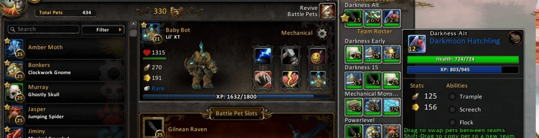 WoW Pet Battle Addon: Pet Battle Teams – Game Diplomat