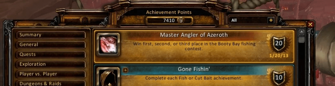 WoW Fishing Achievement