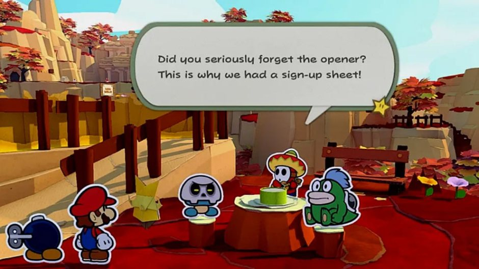 Paper Mario: The Origami King screenshot Shy Guy Bob-omb