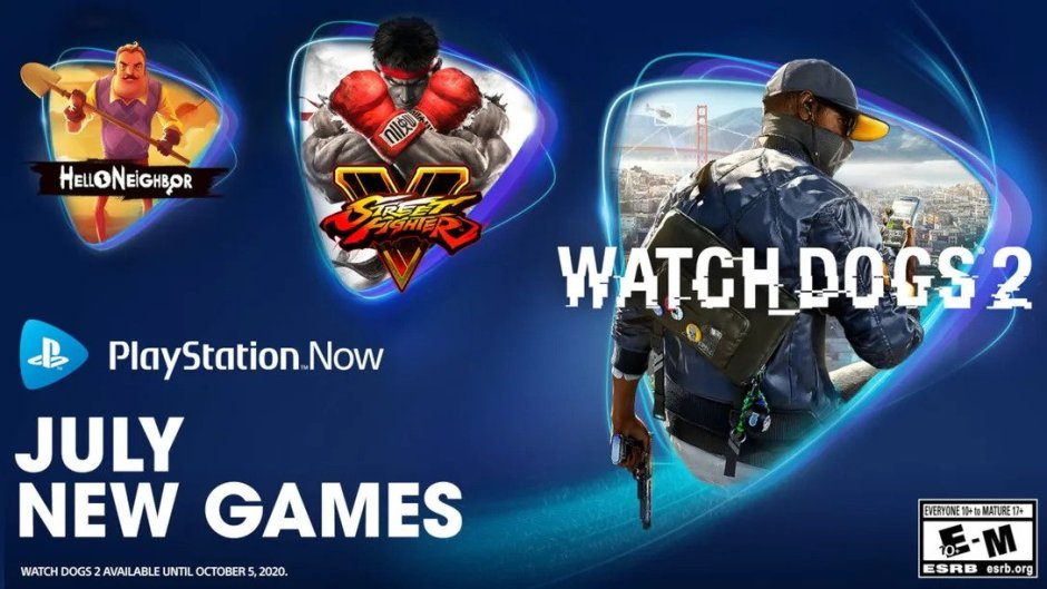 PlayStation Now Watch Dogs 2 Street Fighter V Hello Neighbor