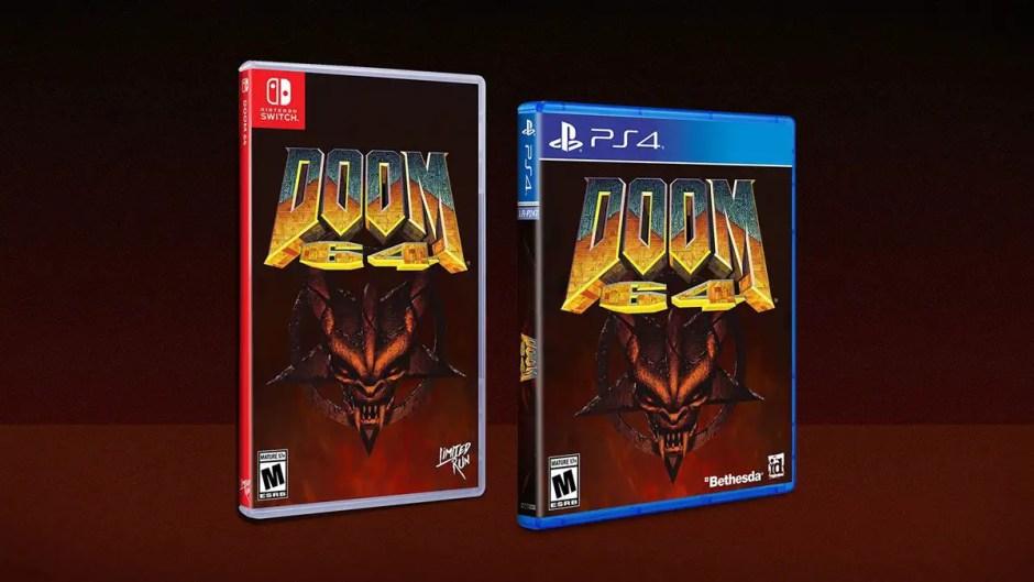Doom 64 PS4 Nintendo Switch cover art