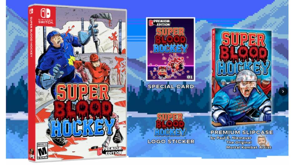 Super Blood Hockey Nintendo Switch case Premium Edition Games