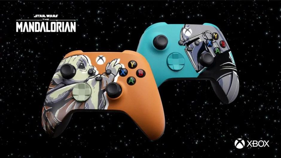Mandalorian-inspired custom Xbox controllers
