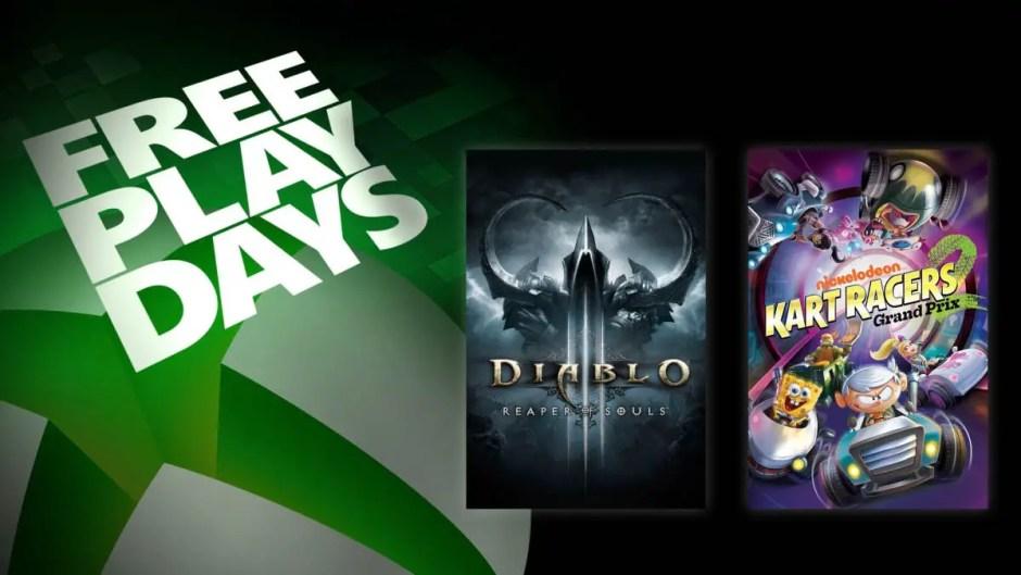 Xbox Free Play Days: Diablo III and Nickelodeon Kart Racers 2