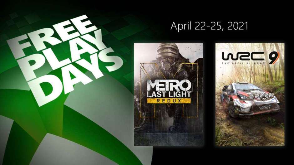 Xbox Free Play Days: Metro Last Light Redux and WRC 9