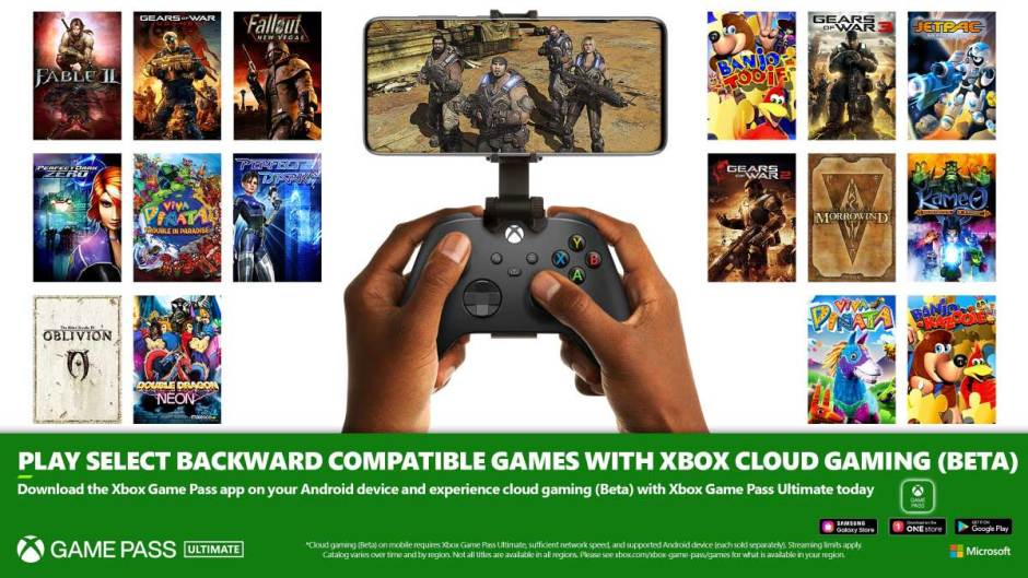Xbox Game Pass Ultimate now supports backward compatible games on Android