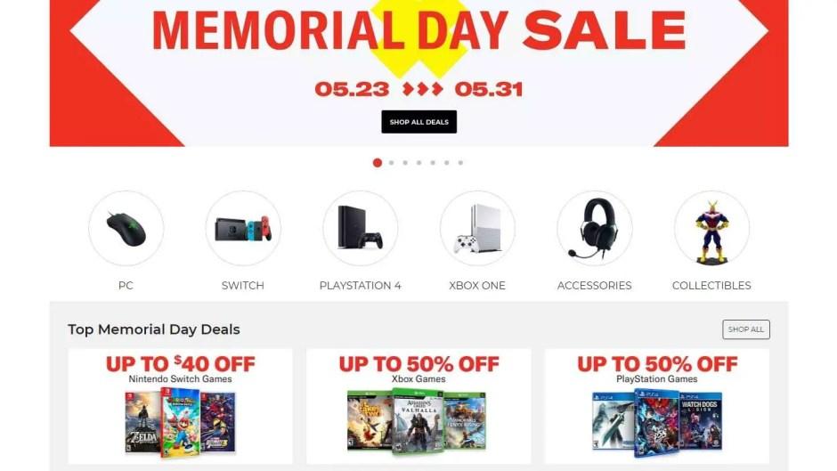 GameStop Memorial Day Sale 2021