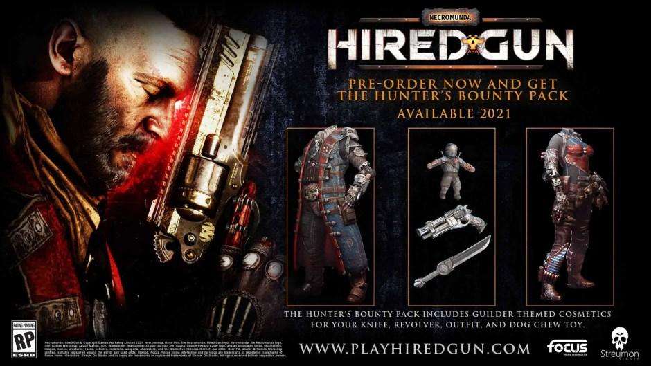 Necromunda: Hired Gun pre-order bonuses
