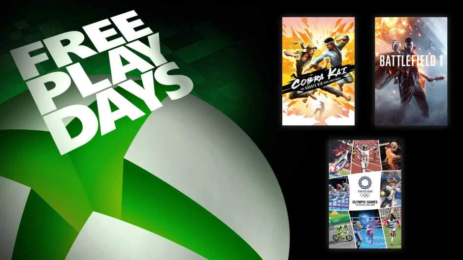 Xbox Free Play Days: Cobra Kai, Battlefield 1, Olympic Games Tokyo 2020