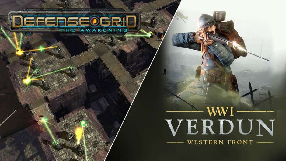 Verdun and Defense Grid: The Awakening are free at Epic Games Store