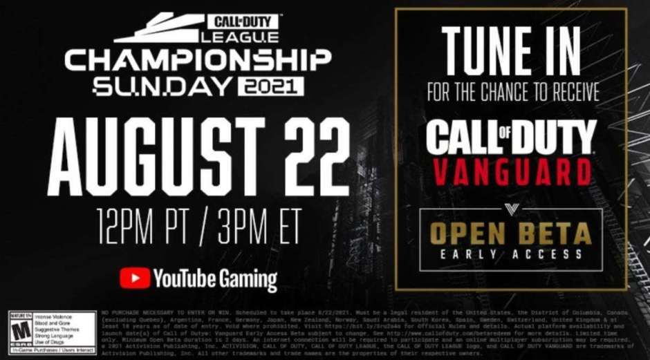 Win Call of Duty: Vanguard beta codes just for watching Call of Duty League