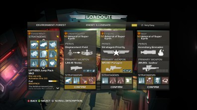 HELLDIVERS ui Loadout