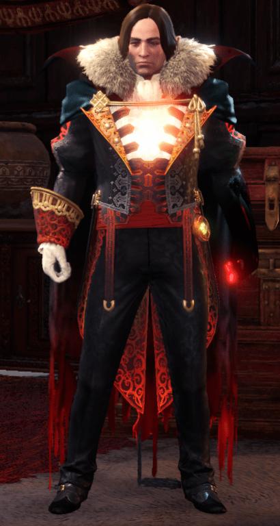 vampire demonlord monster hunter world armor set
