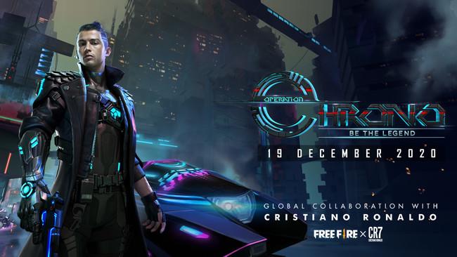クリスティアーノ・ロナウド選手がバトロワゲーム《Free Fire》の新キャラクターとして登場、中心となって新しい世界が幕を開ける!