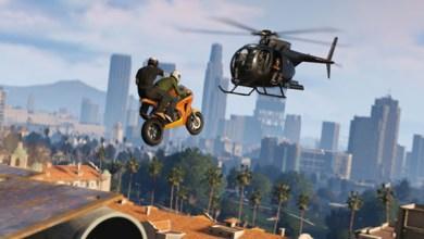 GTA V - Online - Imagem - Helicóptero e Moto - Index