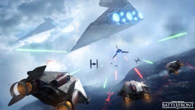 Star Wars - Battlefront - Wallpaper Full HD - Wing Vs Imperial Shuttle - 1920x1080