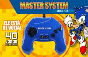 Master System Plug & Play com 40 jogos na Memória