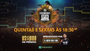 StreamCraft Open começa hoje (7) com os maiores times de Free Fire do Brasil e prêmio de US$ 1000
